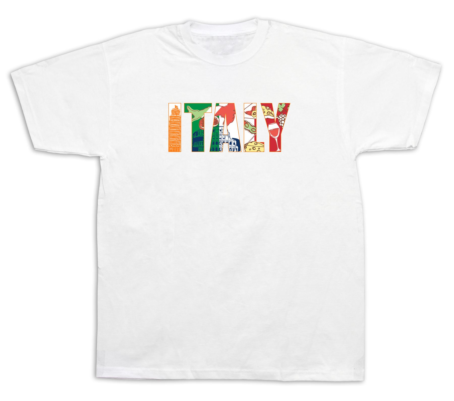 italia italy tourist spots city sites t shirt funny casual