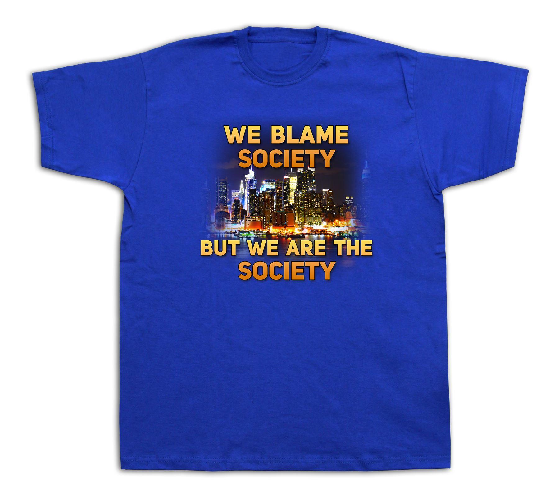 Blame society jayz music NYC city T shirt cotton tee ...