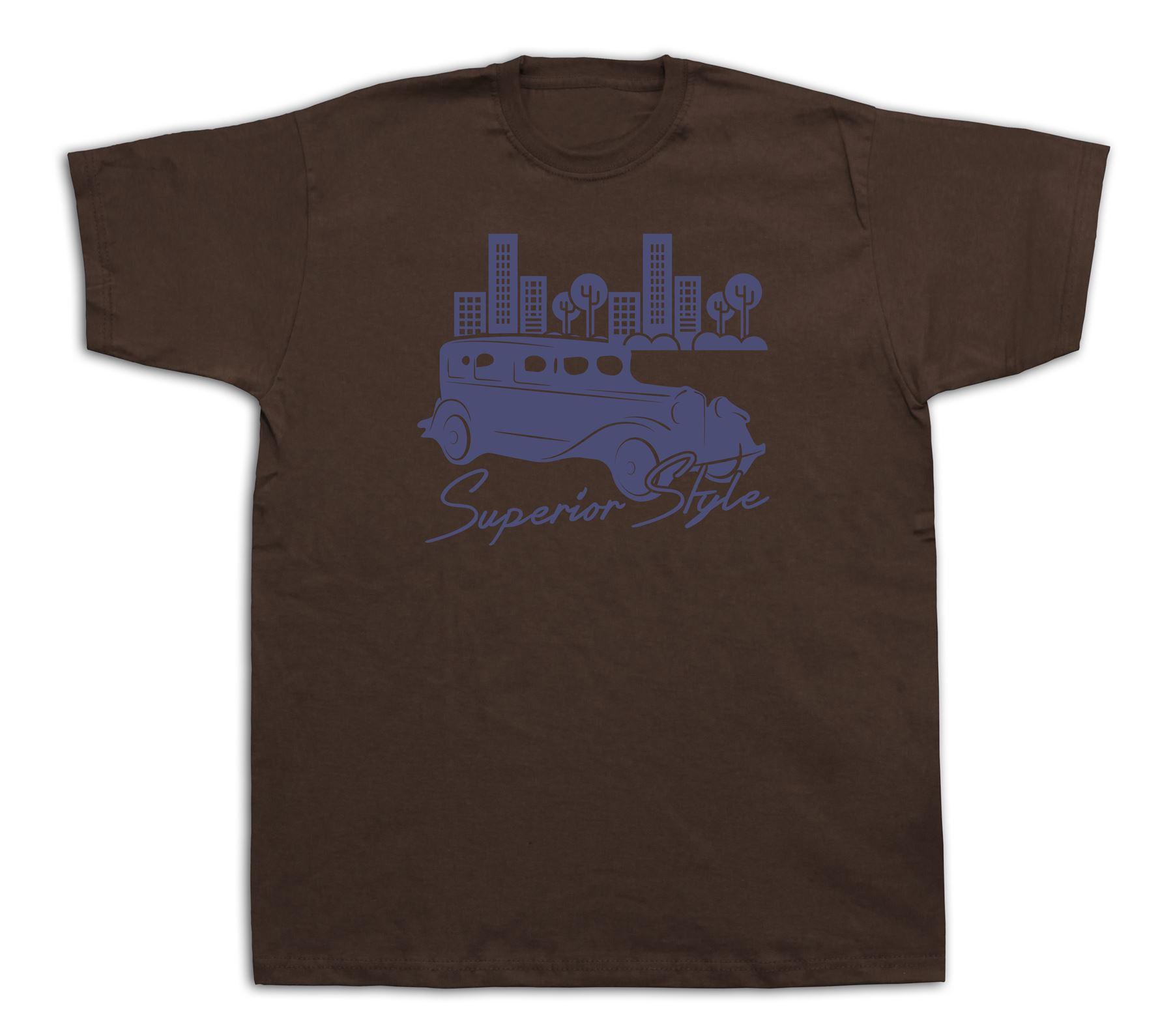 Superior Style Classic Retro Vintage Car T Shirt Graphic