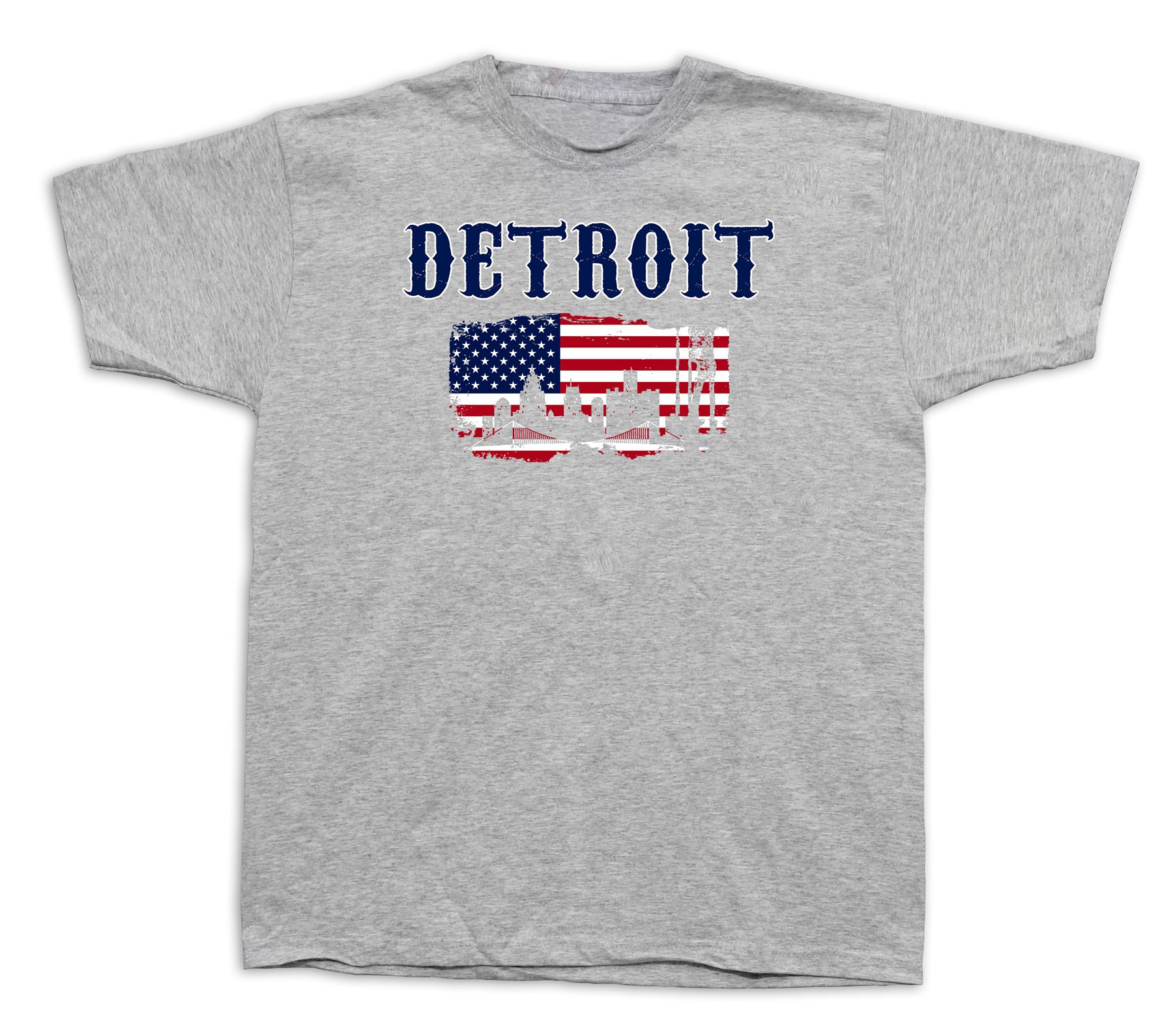 Detroit Flag souvenir tourist spots city sites t shirt funny ...