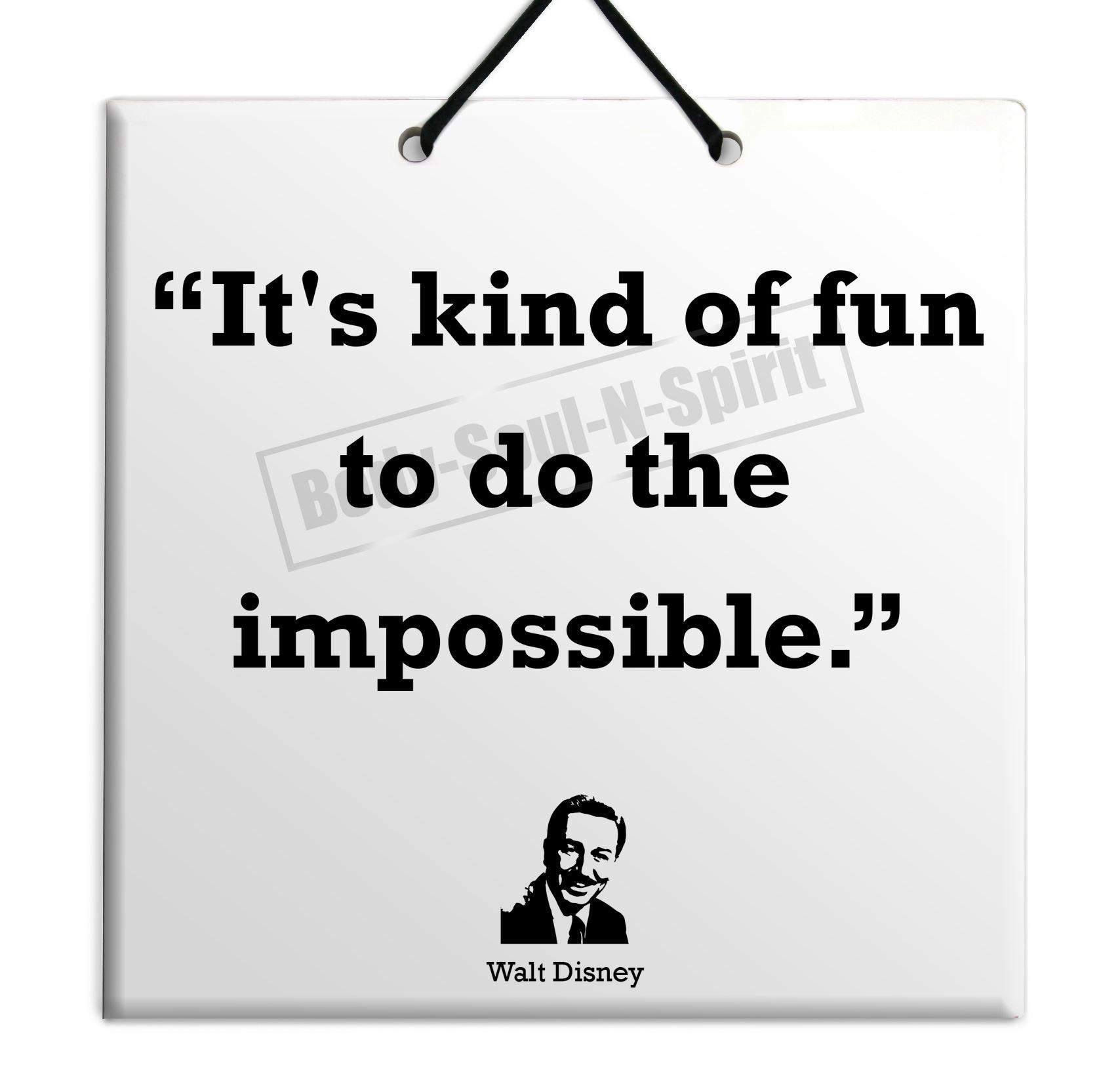 Disney Quote Plaques: Walt Disney Gift Quote Ceramic Wall Hanging Plaque TILE