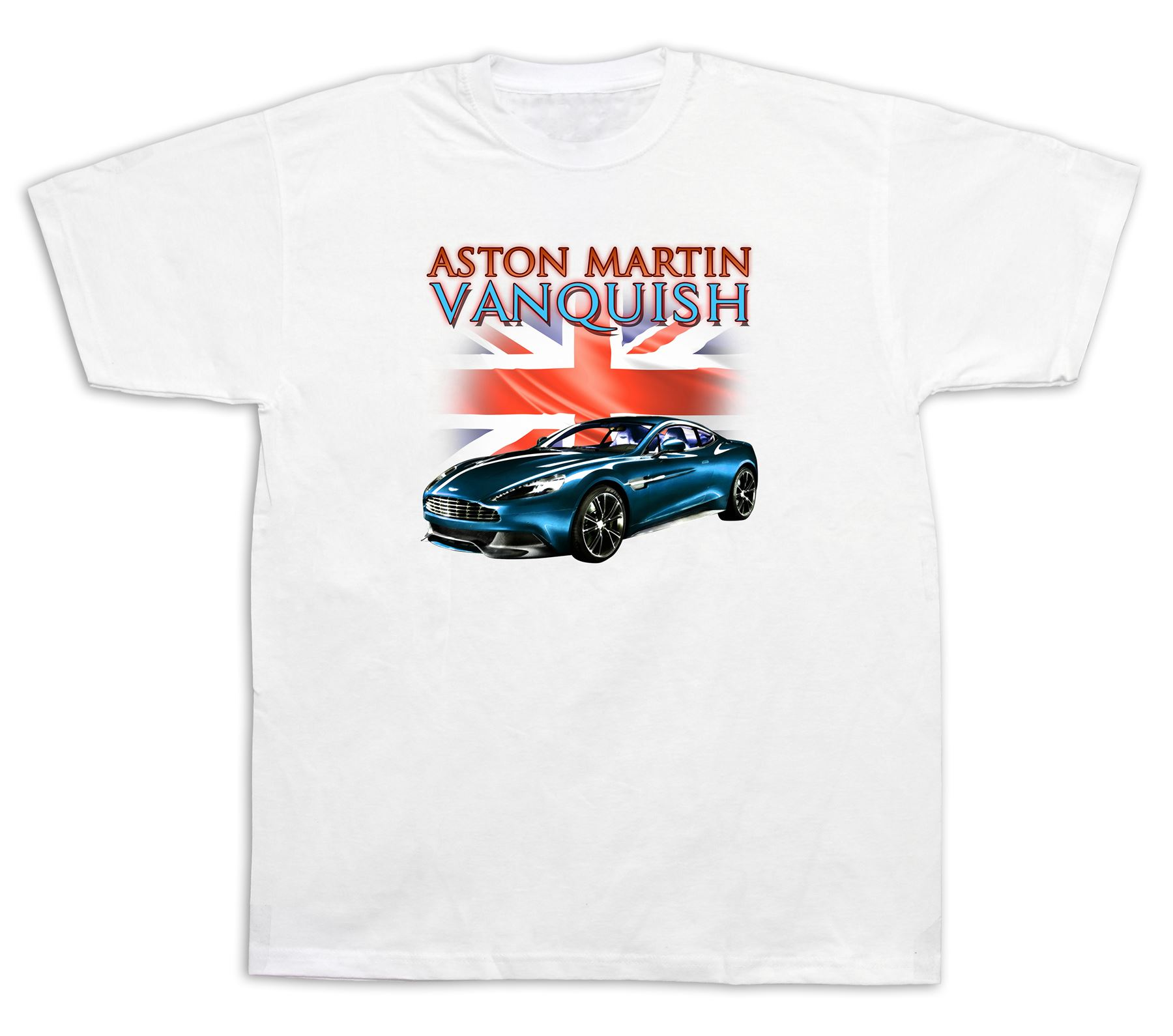New Mens Cotton T Shirt Print Aston Martin Vanquish