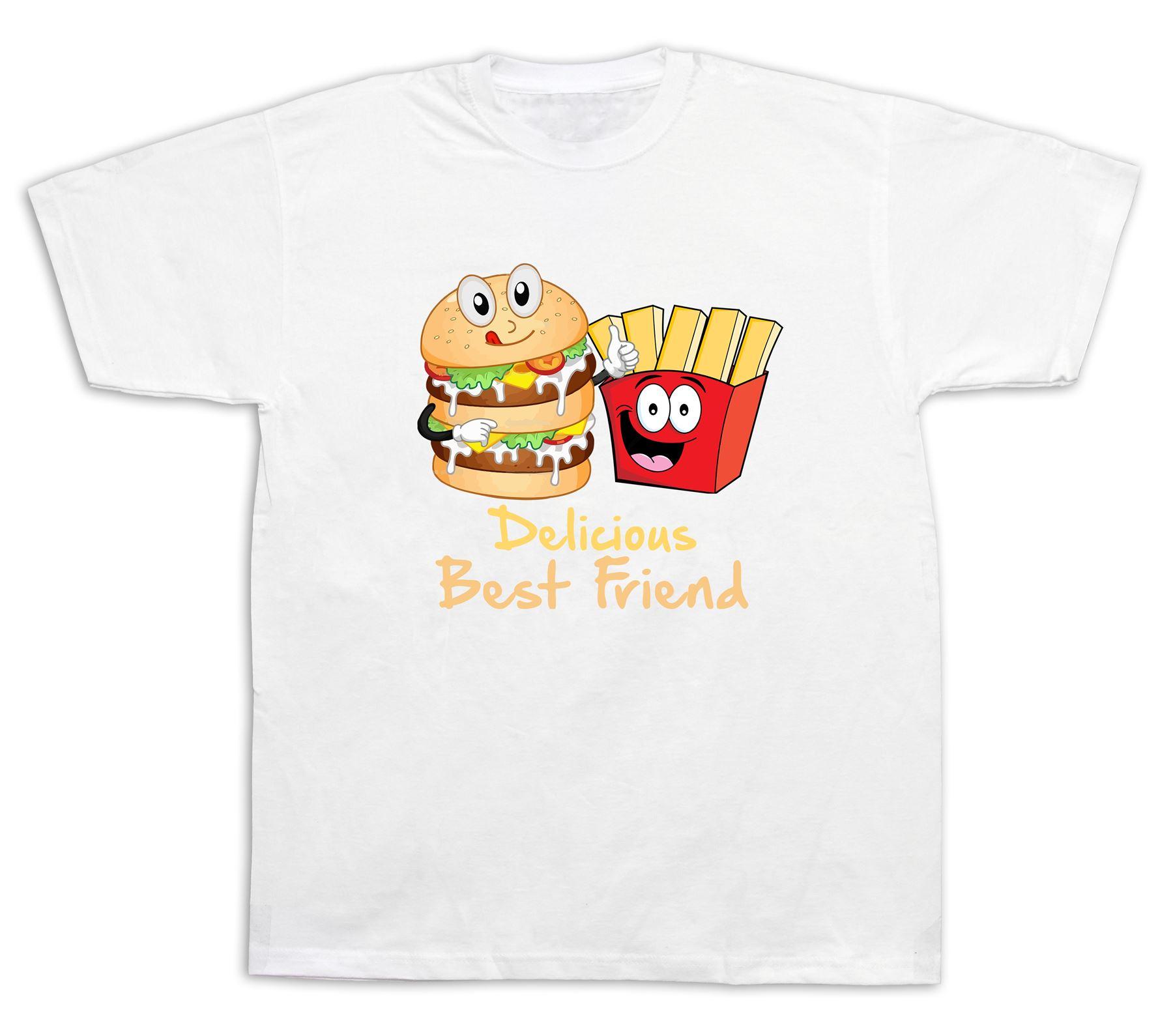 delicious burger chips best friend bff t shirt fast mix. Black Bedroom Furniture Sets. Home Design Ideas