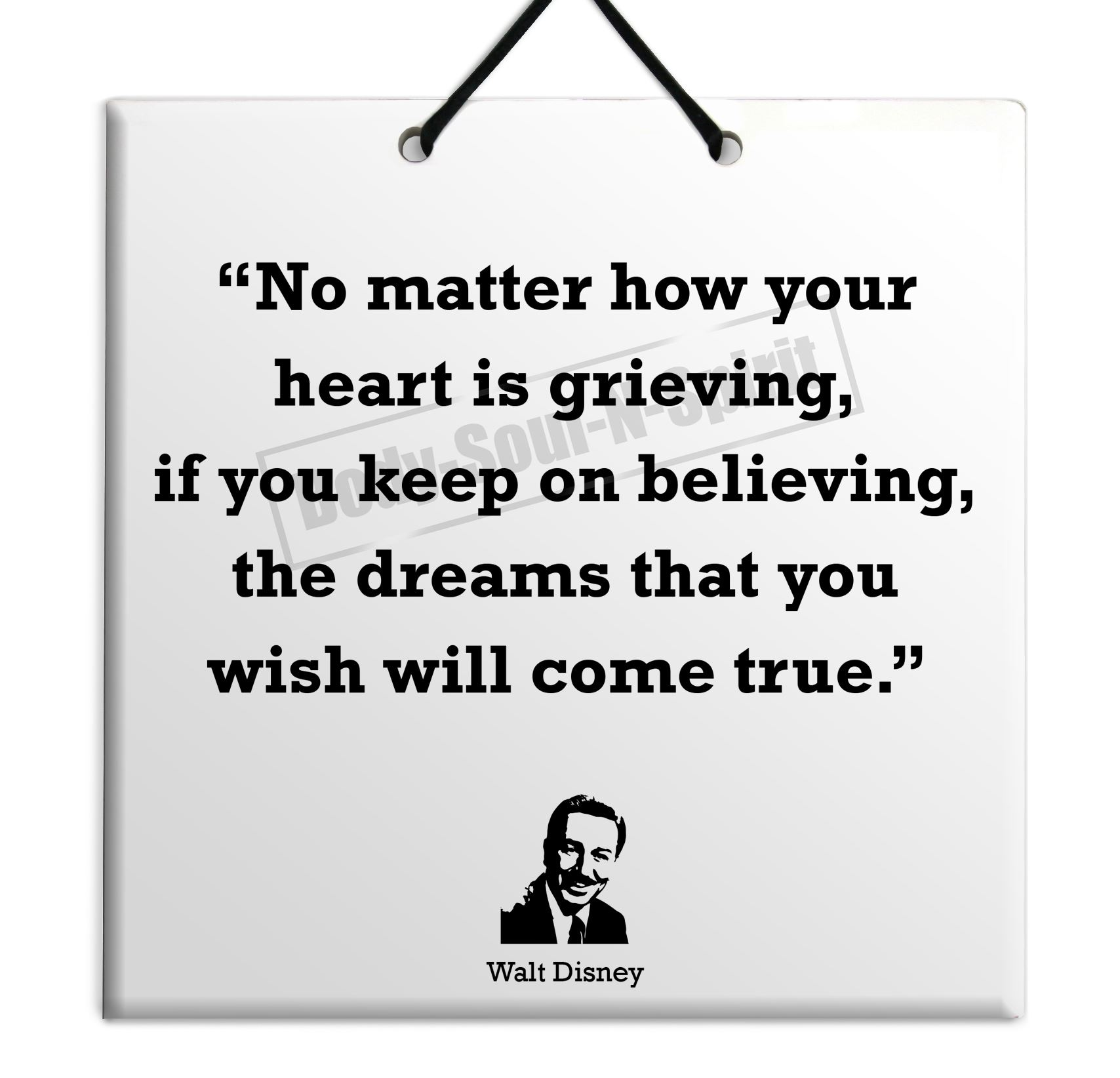 Disney Quote Plaques: Walt Disney Quote Ceramic Wall Hanging Plaque TILE Home