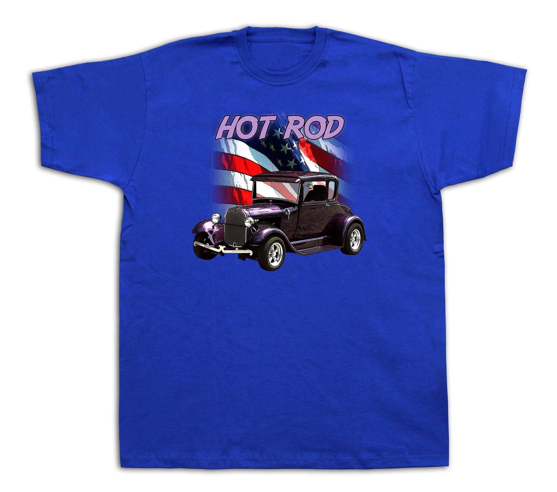 Purple hot rod mucle car tshirts ford vintage custom race for Racing t shirts custom