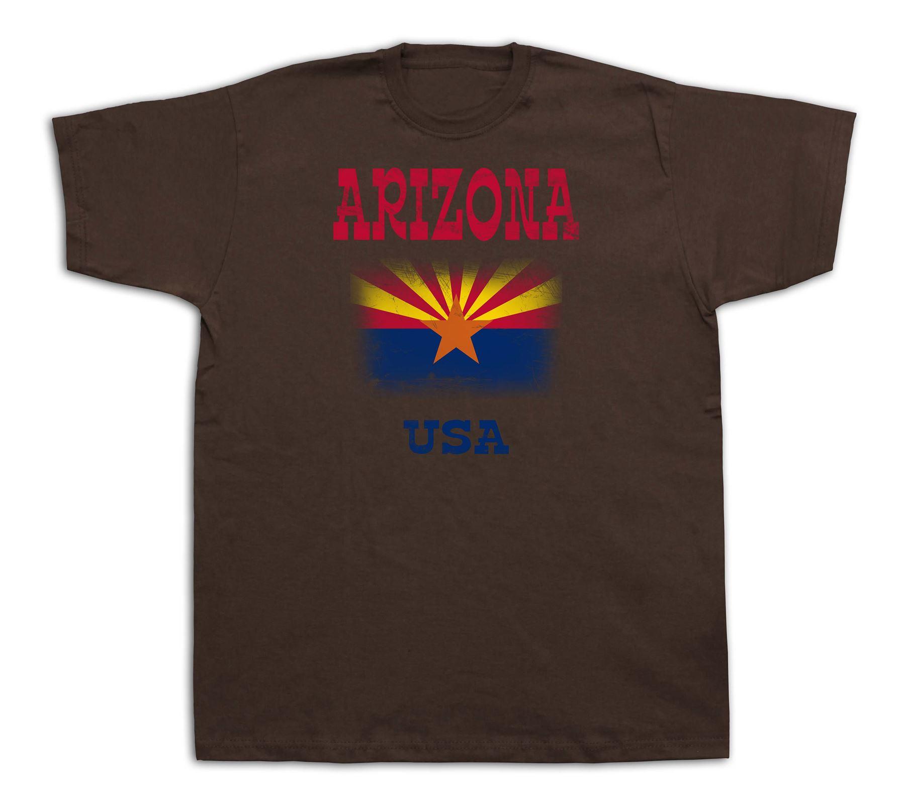 arizona flag usa state souvenir tourist city sites t shirt