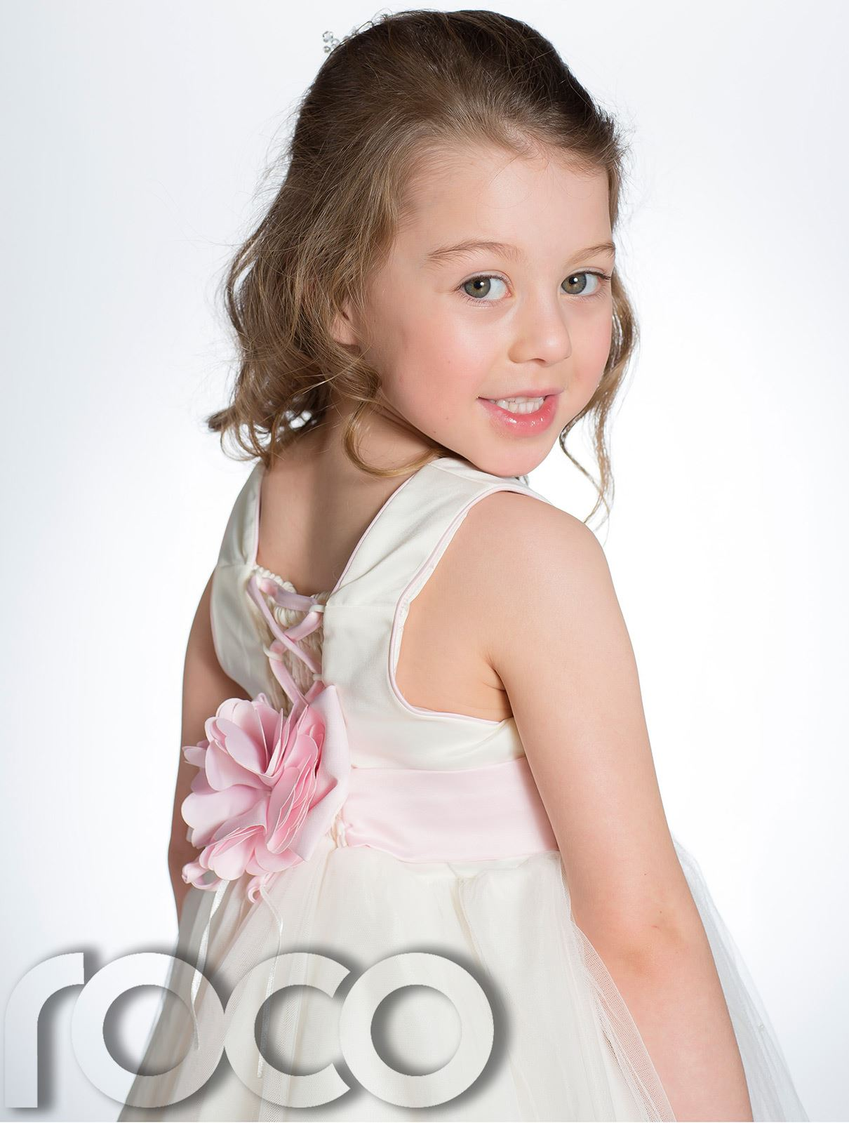 Ivory And Pink Flower Girl Dresses Uk High Cut Wedding Dresses
