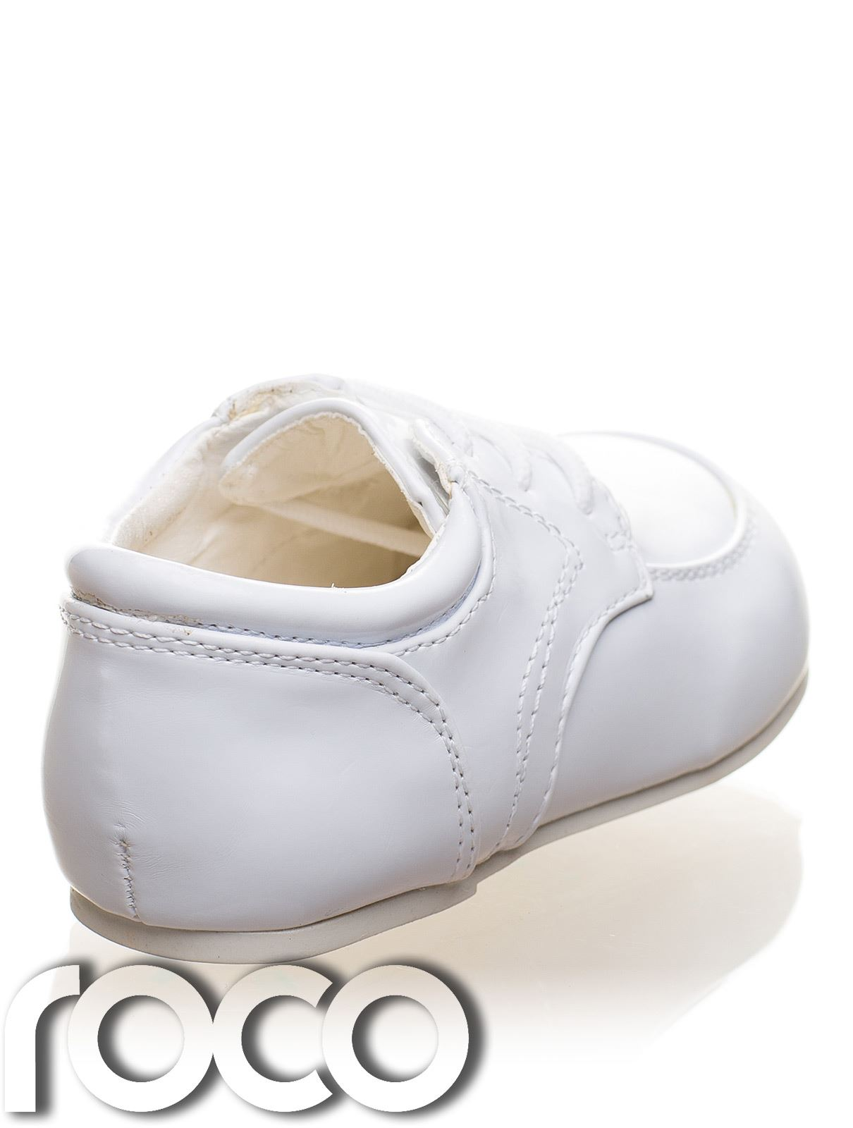Childrens Baby Boys White Shoes Lace Up Wedding Page Boy