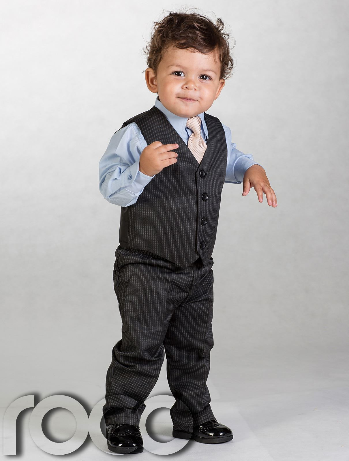 Need a suit for a page boy? At tuxedosonline. com we have high quality suits for children of any size, from toddler to teens. We have nice suit packages which include a shirt, coat, pants, and tie, or you can buy suit separates for your little ones.