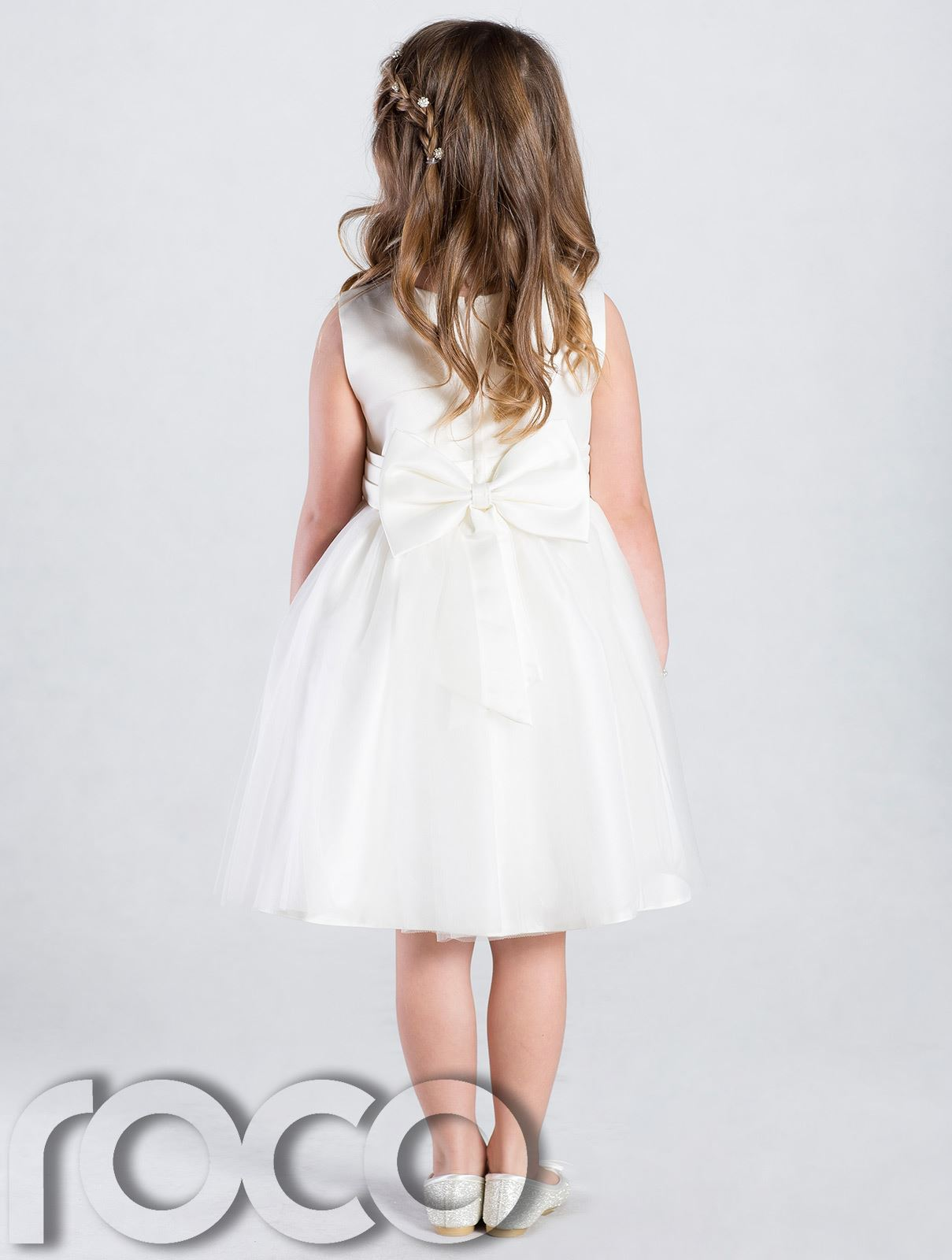 Ivory Flower Girl Dress Girls Bridesmaid Wedding Party Dresses munion Dress
