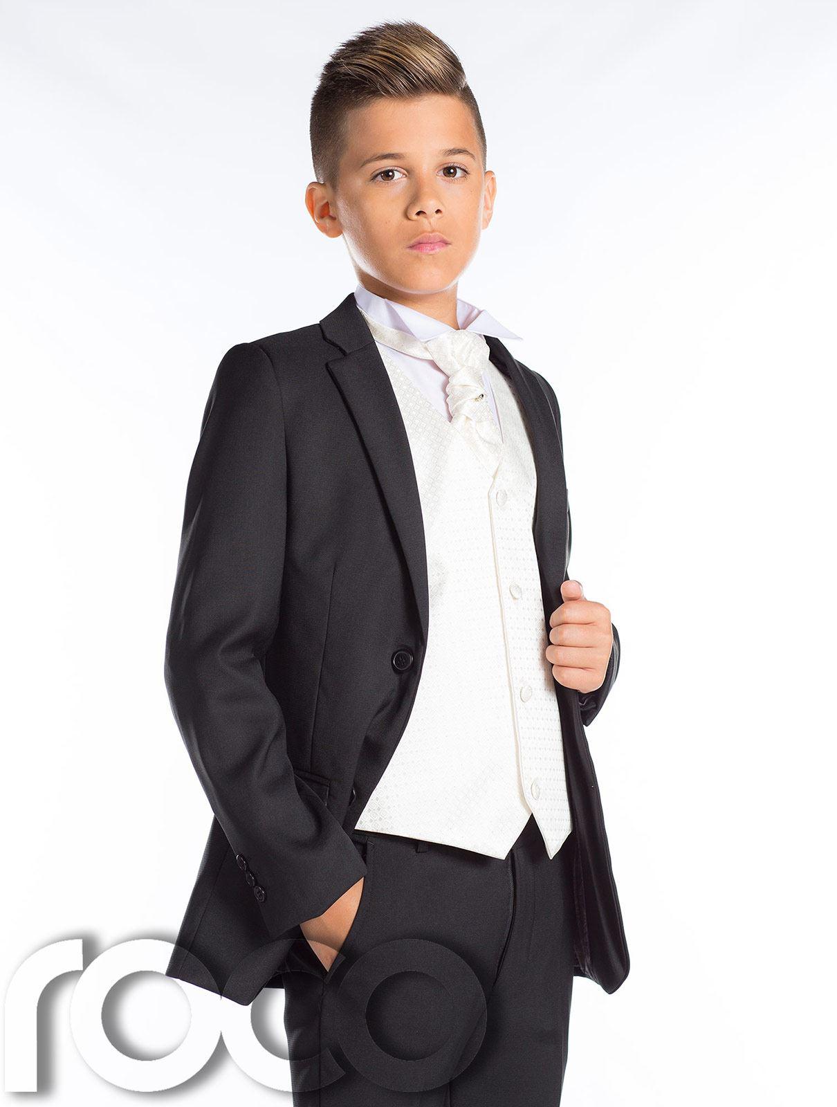 jungen schwarz anzug seite hochzeitsanzug slim fit anzug. Black Bedroom Furniture Sets. Home Design Ideas