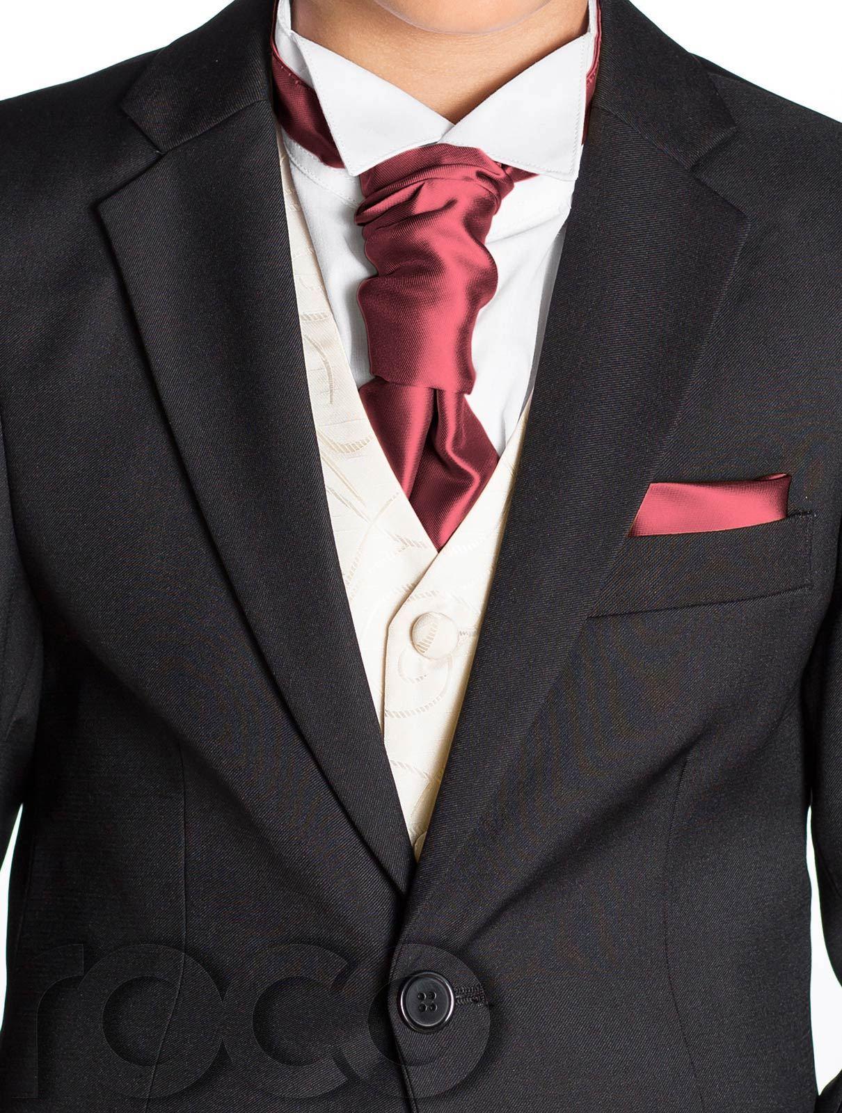 Boys Black Suit, Boys Cravat & Pocket Square, Page Boy ...