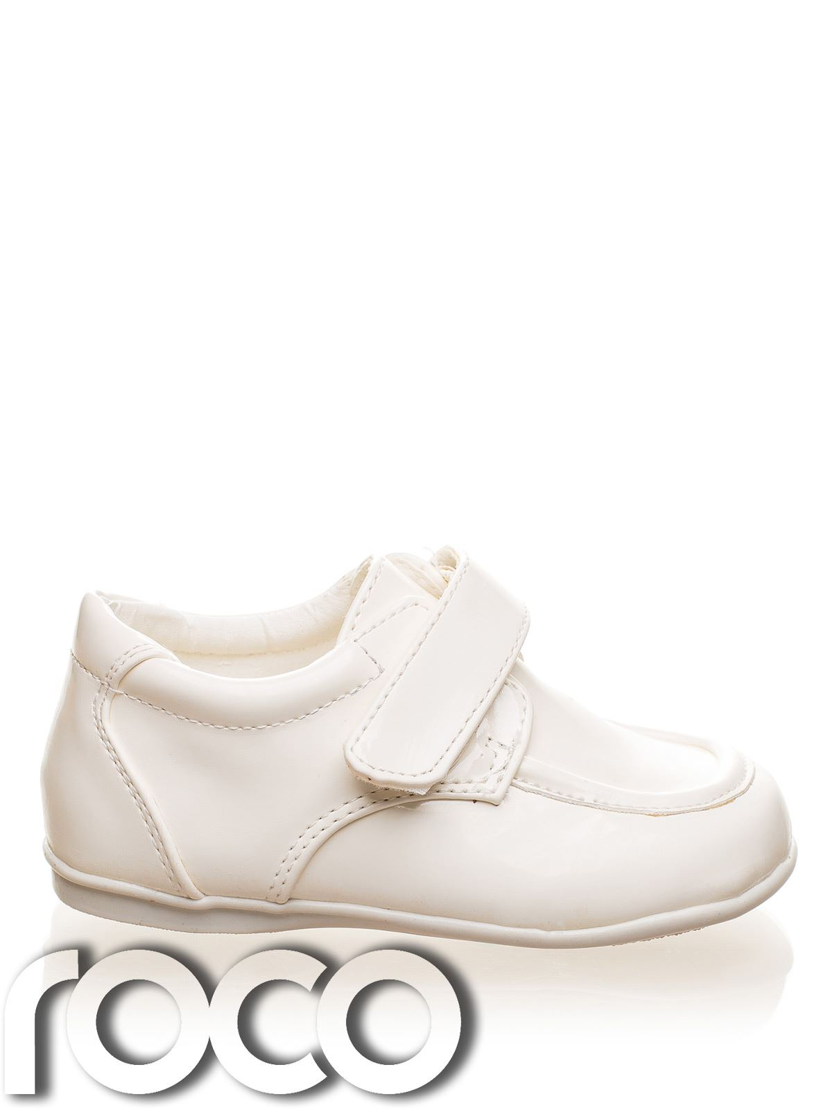 Childrens-Baby-Boys-Cream-Shoes-Velcro-Wedding-Page-Boy-Christening-Kids-Shoes