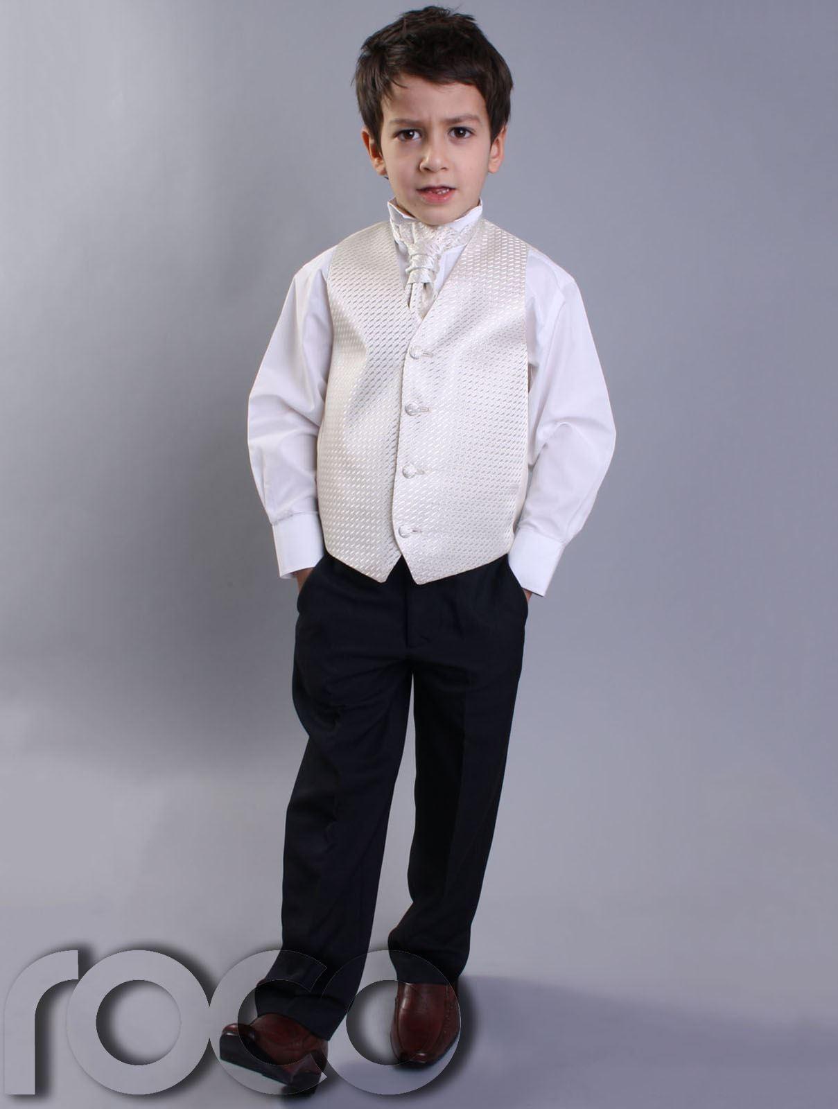 Boys Black & Ivory Suit, Page Boy Suits, Prom Suits, Boys ...