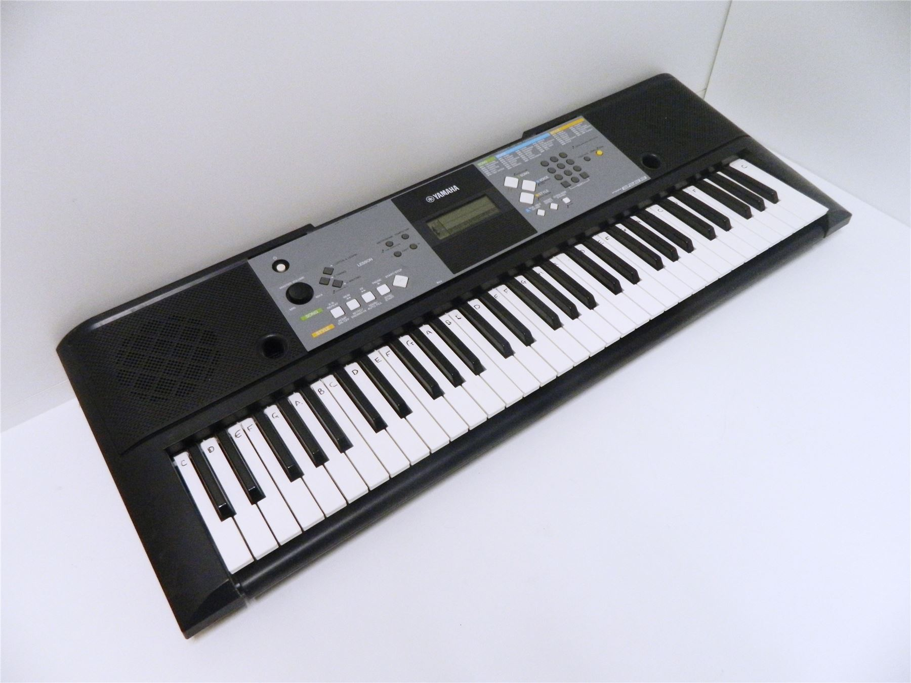 yamaha psr e233 digital piano keyboard portable includes power adapter ebay. Black Bedroom Furniture Sets. Home Design Ideas