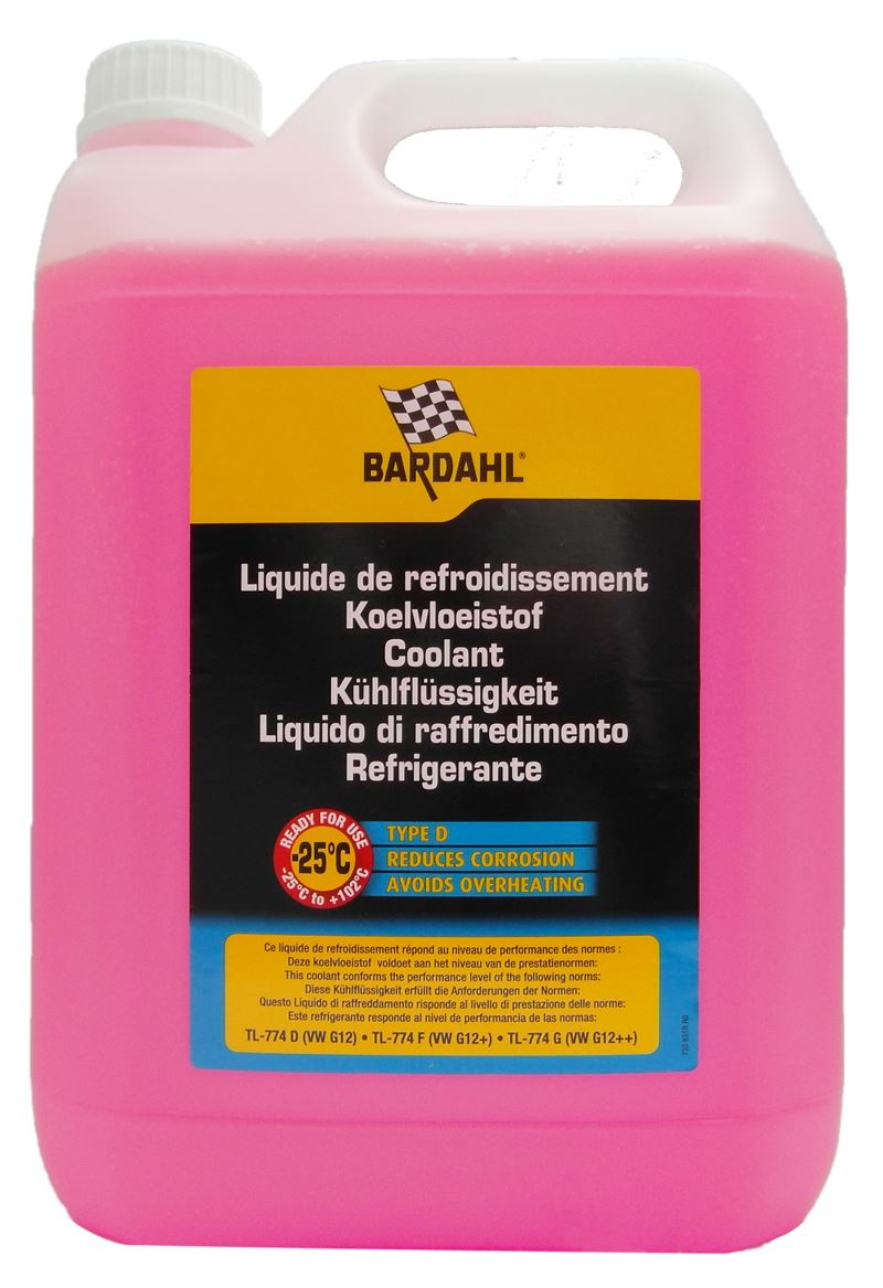 bardahl type d anti freeze 5 litre vw tl 774 d g12 renault 41 01 001 ebay. Black Bedroom Furniture Sets. Home Design Ideas