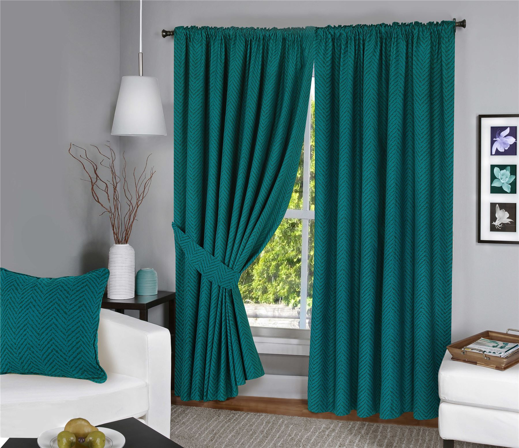 Menaal Pair of 100% Cotton Curtains Fully Lined Solar Thermal Blocking Lining