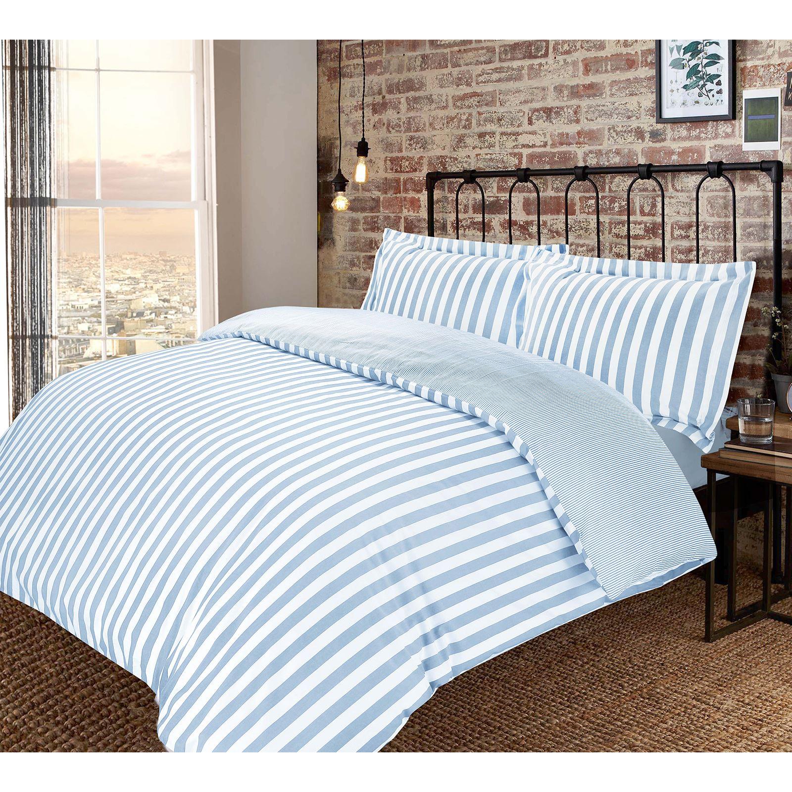 Vertical Stripe Woven 100 Cotton T200 Reversible Duvet