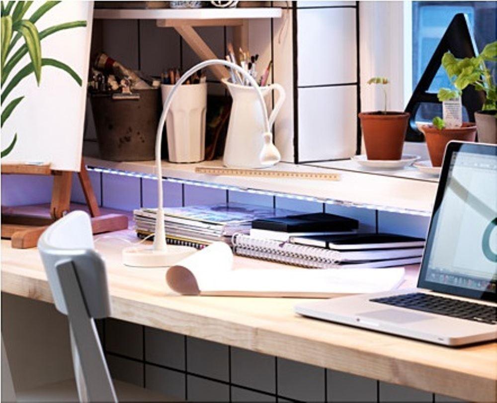 Ikea jansjo led faretto flessibile 5 colori tavolo scrivania lampada da lavoro uso regolare ebay - Lampada scrivania ikea ...
