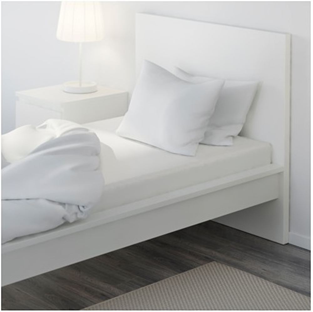 ikea knoppa high quality white single size elasticated bed fitted cotton sheet ebay. Black Bedroom Furniture Sets. Home Design Ideas