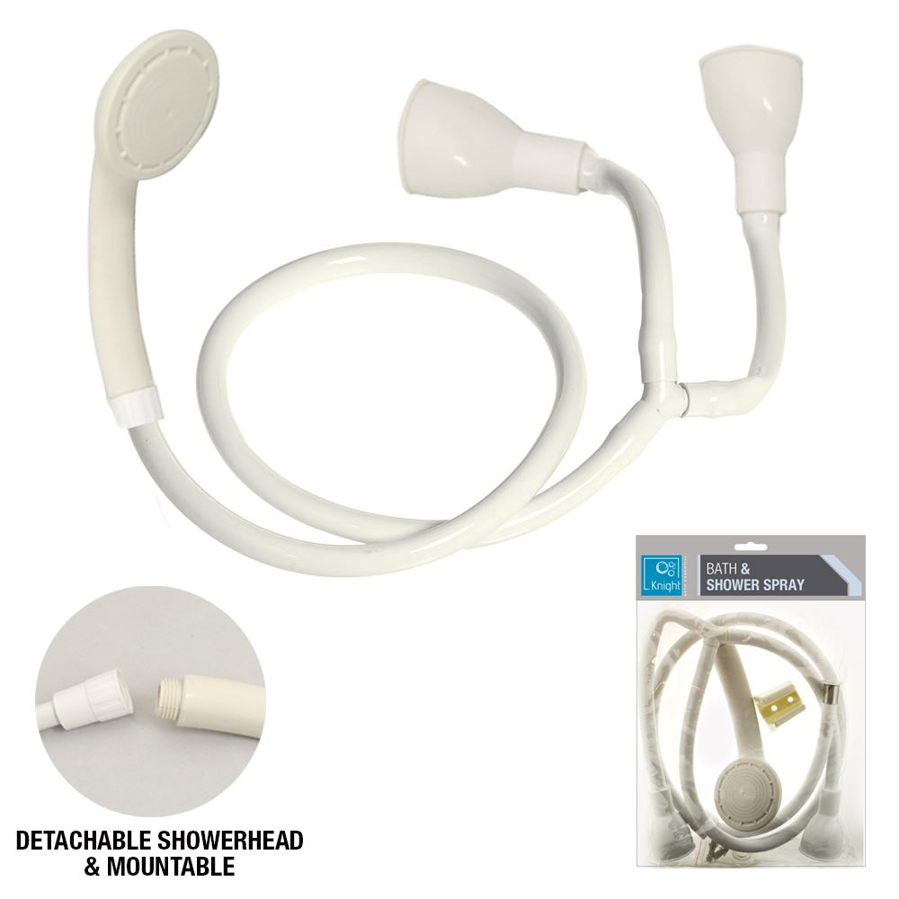 Single Double Tap Shower Spray Bath White Connector Hairdresser ...