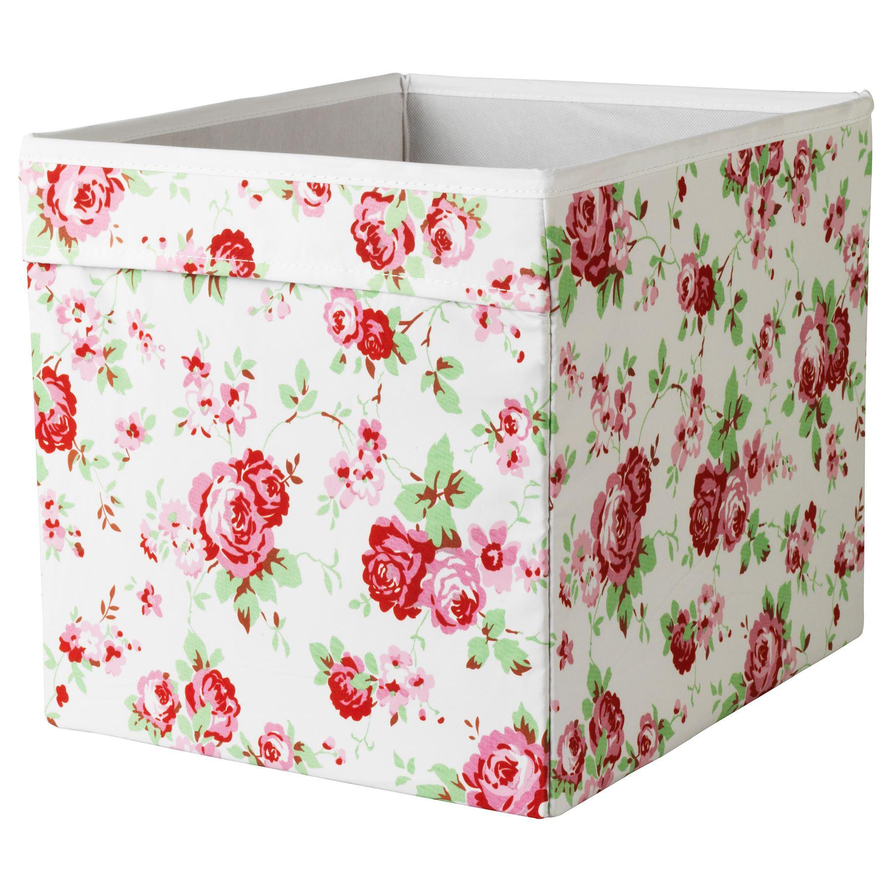 Ikea drona box storage fabric magazines books expedit for Fabric drawers ikea expedit