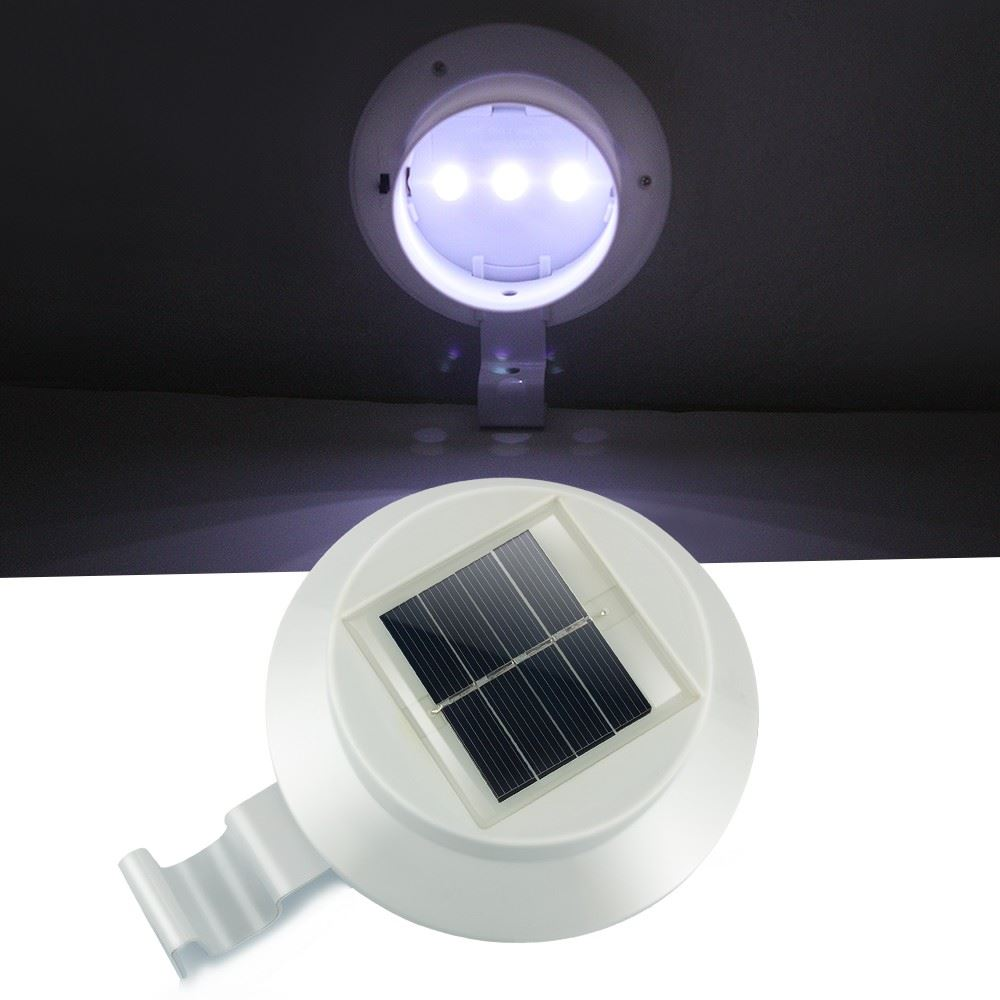 High quality outdoor solar fence gutter spot light bright for Quality landscape lighting