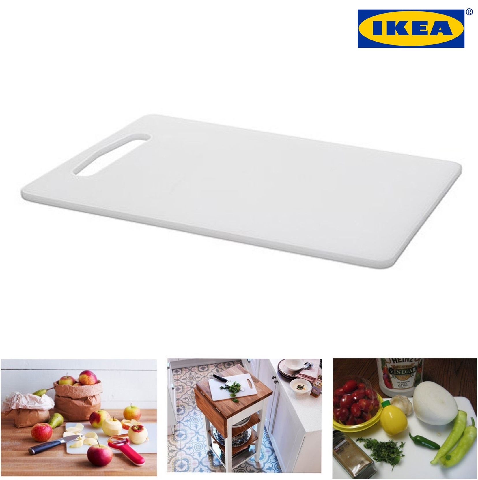 IKEA LEGITIM Best Durable Quality White Chopping Board