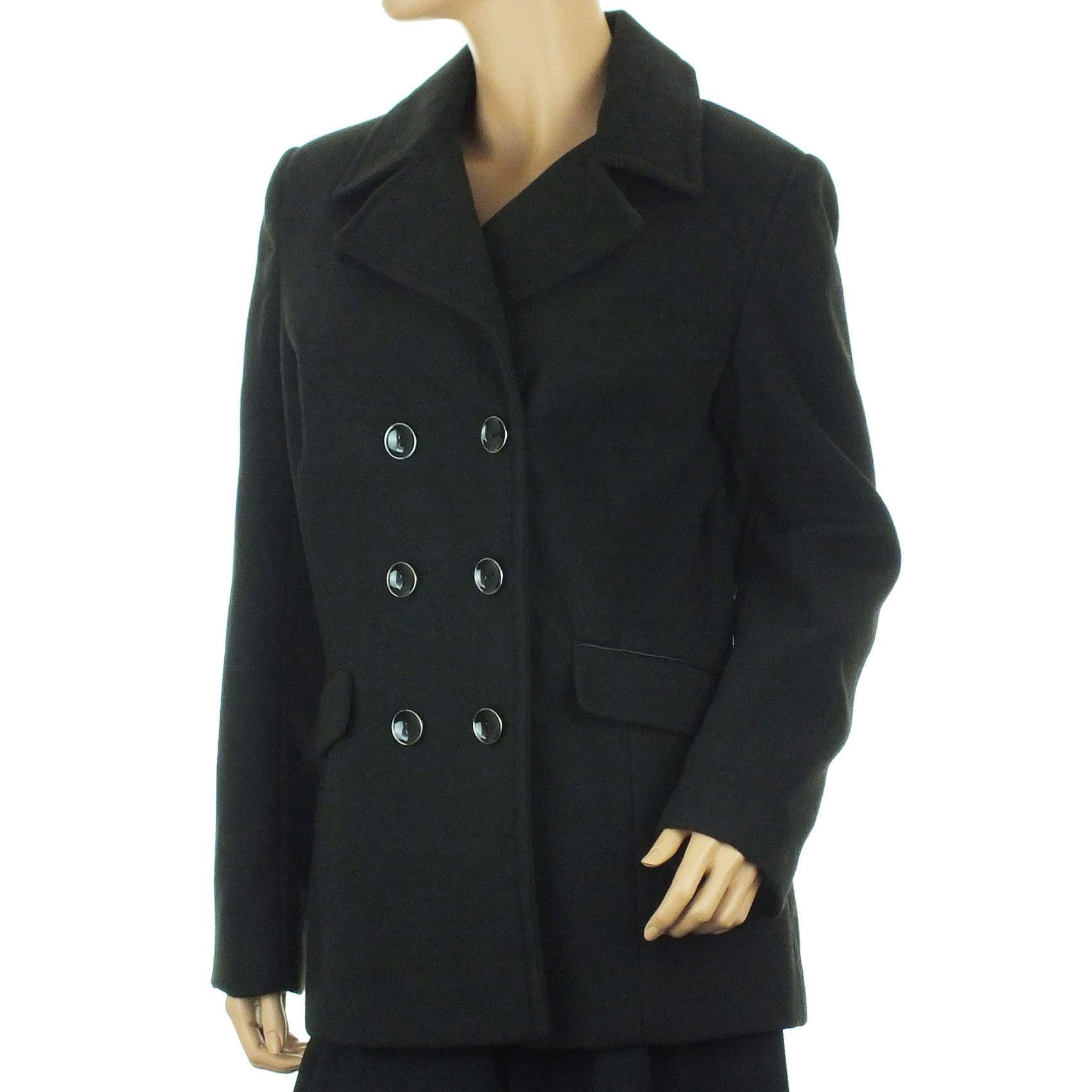 EX Debenhams Short Winter Coat Short Jacket Ladies Double Breasted Buttoned NEW | EBay