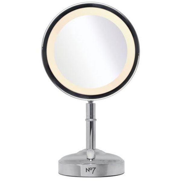 make up mirror light up silver magnification magnifying new ebay. Black Bedroom Furniture Sets. Home Design Ideas