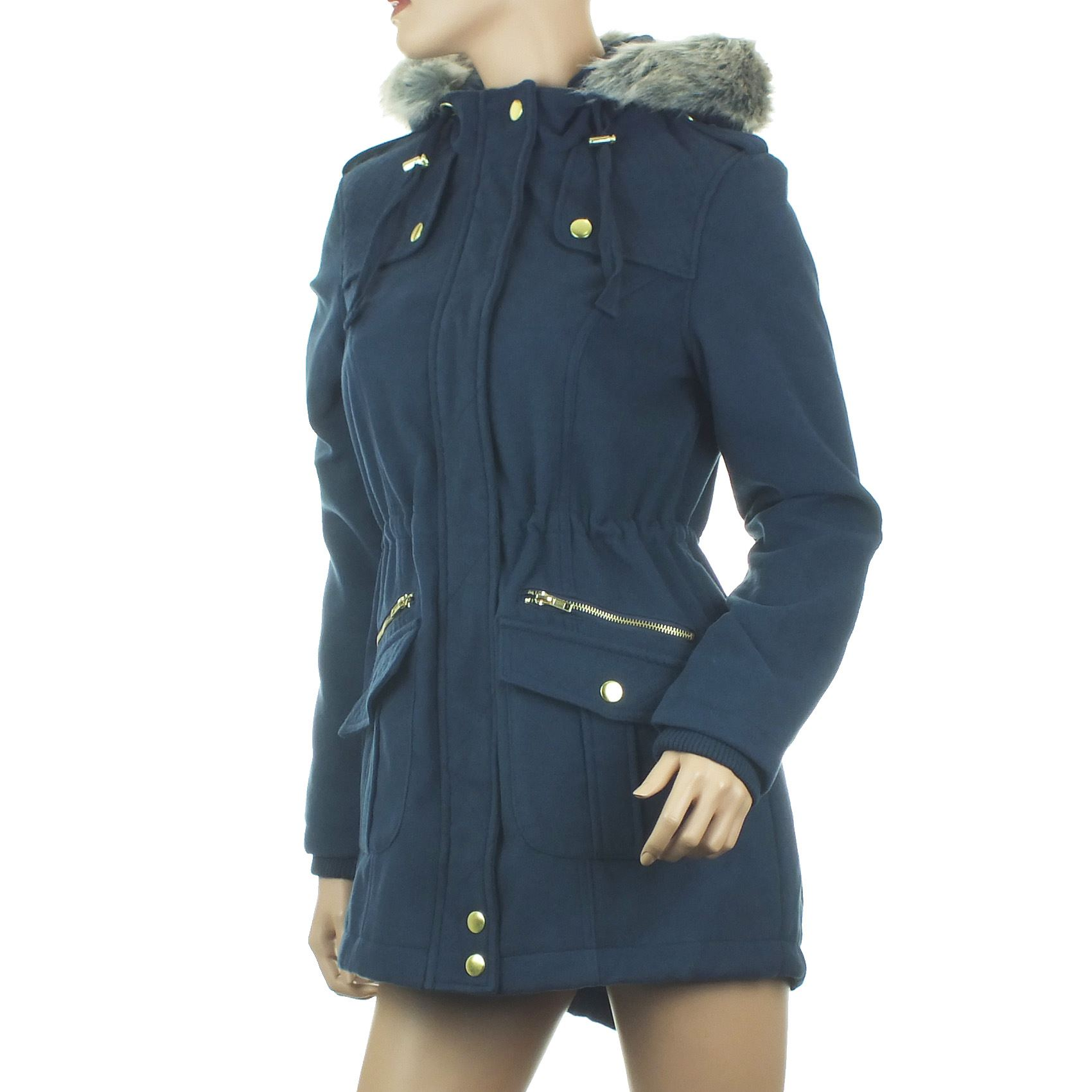 Ex Blue Inc Ladies Parka Coat Womens Jacket Long Winter ...