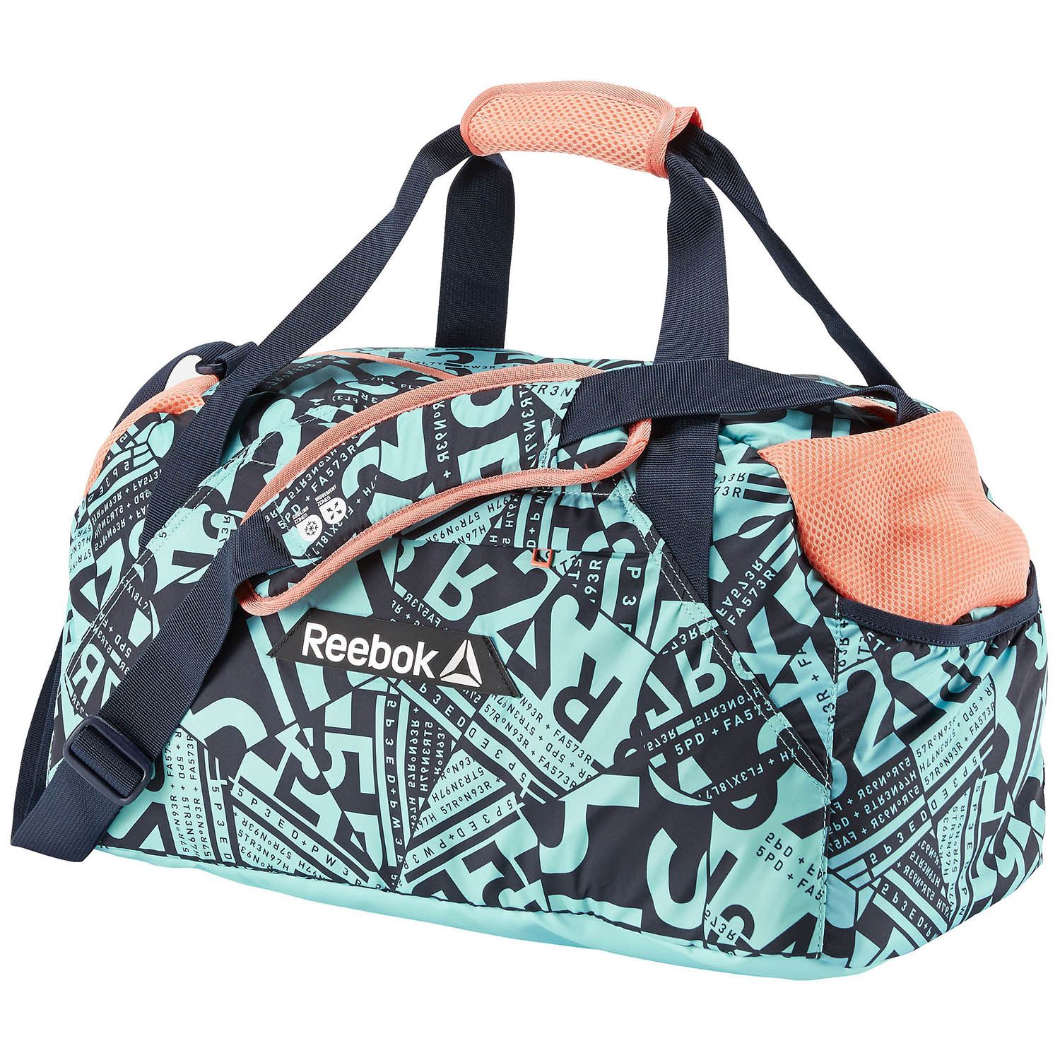 reebok os w grip fitness graphic bag gym sports training ladies womens toiletry ebay. Black Bedroom Furniture Sets. Home Design Ideas