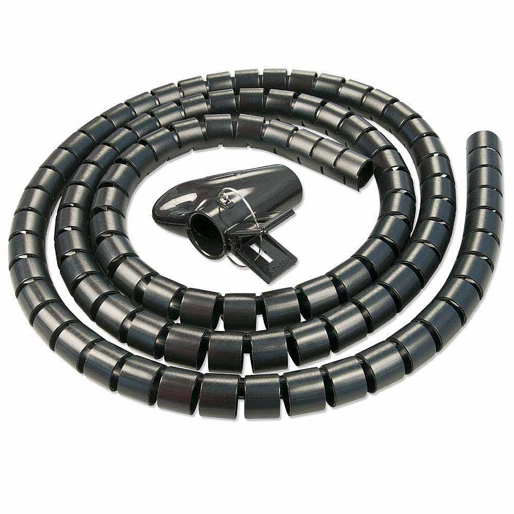 LARGE 2 METRE CABLE TIDY KIT PC TV WIRE ORGANISING WRAP TOOL SPIRAL ...