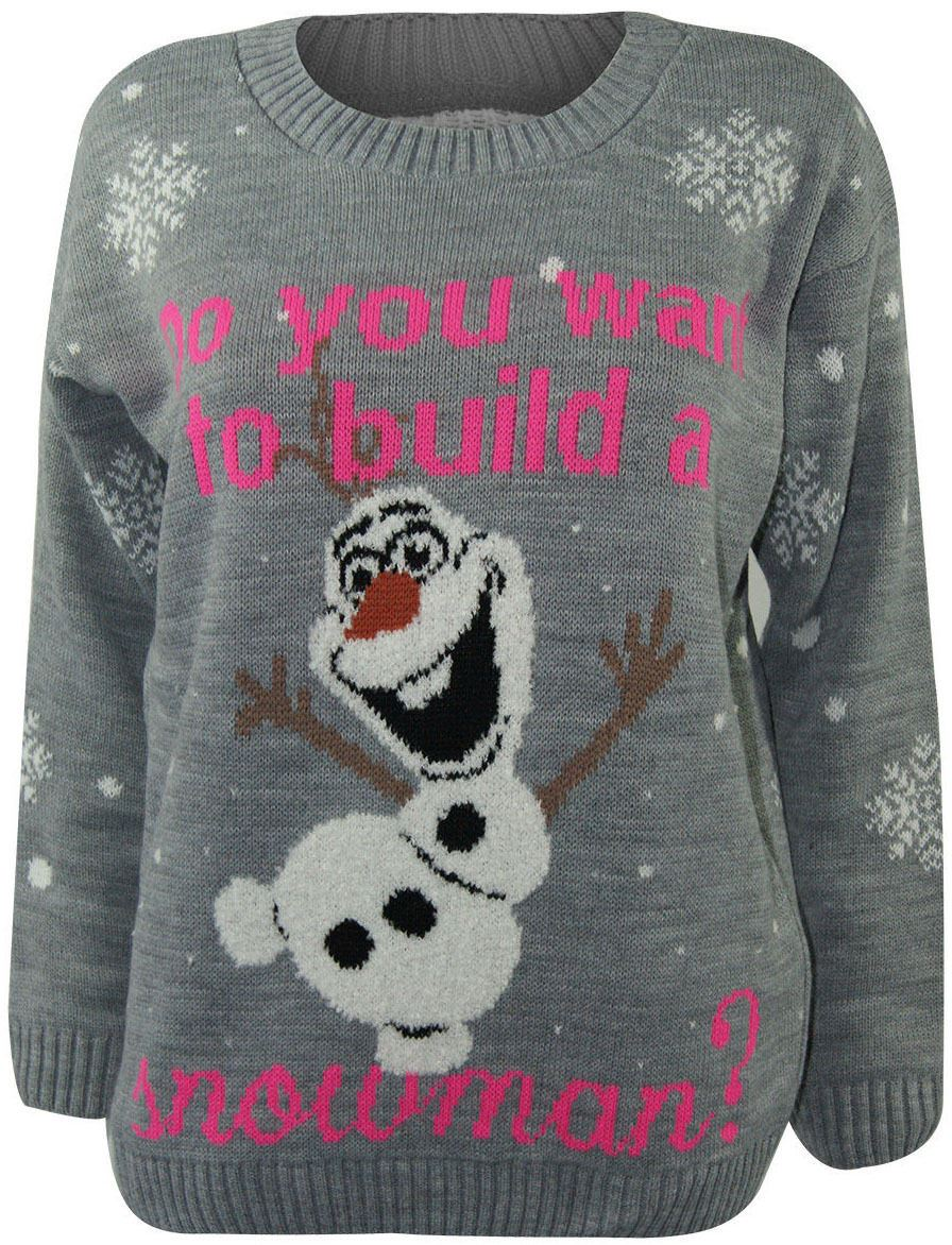Unisex Kinds Ladies Womens Mens Christmas Jumpers Knitted Sweater Minion OLAF...