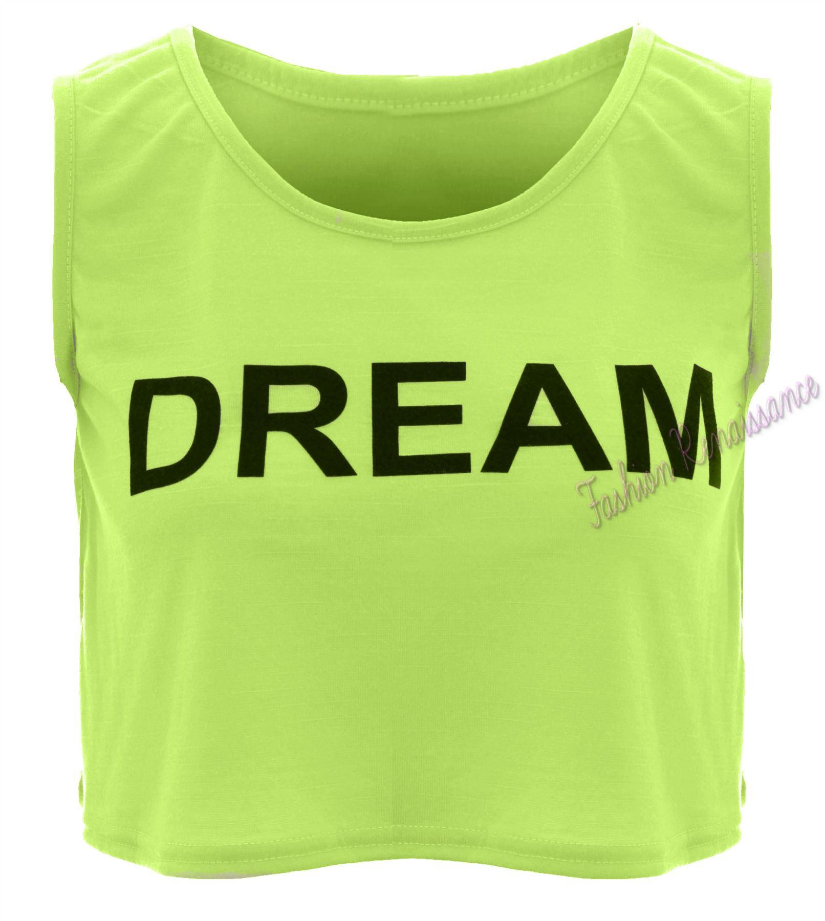 Ladies Womens Celeb Selena Gomez Brave Loyal Print Crop Top T Shirt Vest UK 8-14