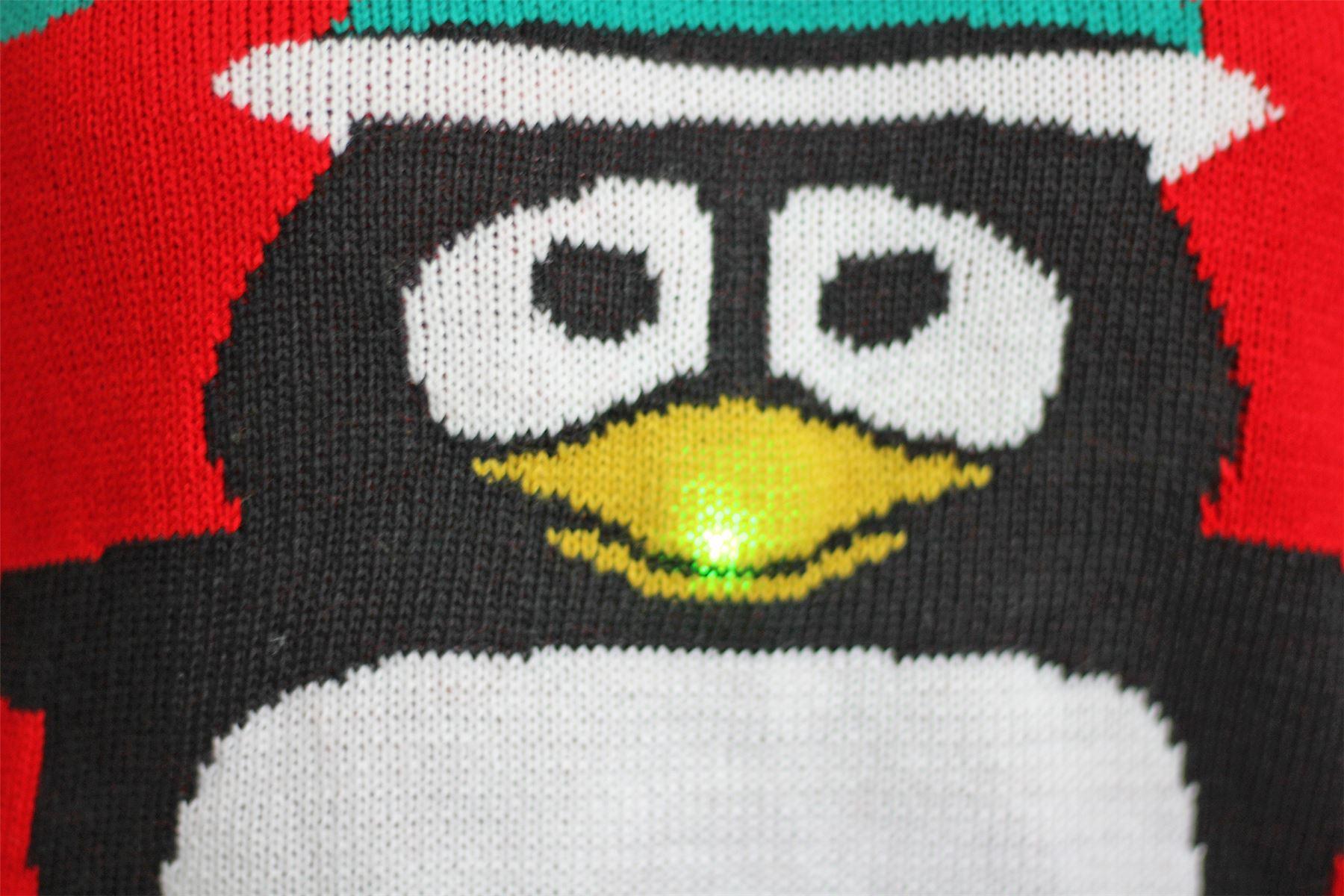 Unisex Ladies Mens Kids Christmas Knitted Jumpers Plus Size OLAF Minion Raind...