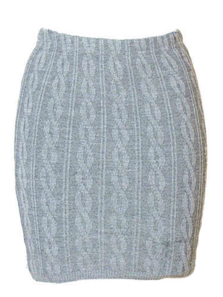 New Women S Ladies Cable Knitted Pattern Short Bodycon