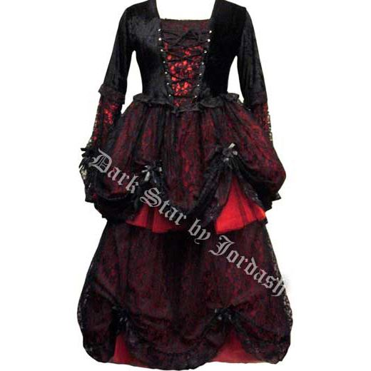 Black & Red Gothic Dress