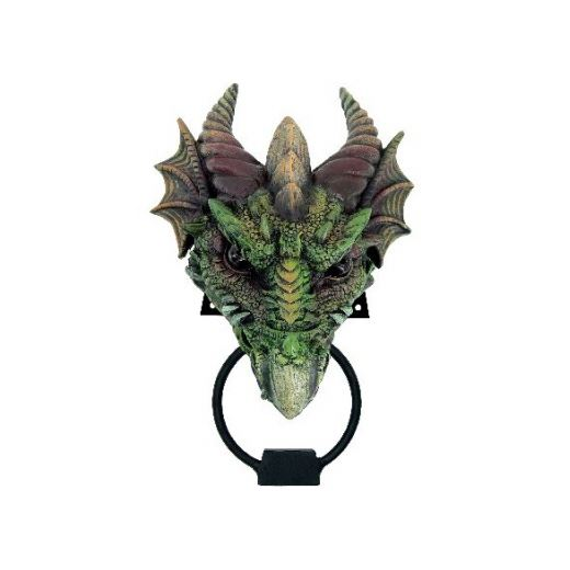 Nemesis now kryst green dragon door knocker ebay - Dragon door knockers for sale ...