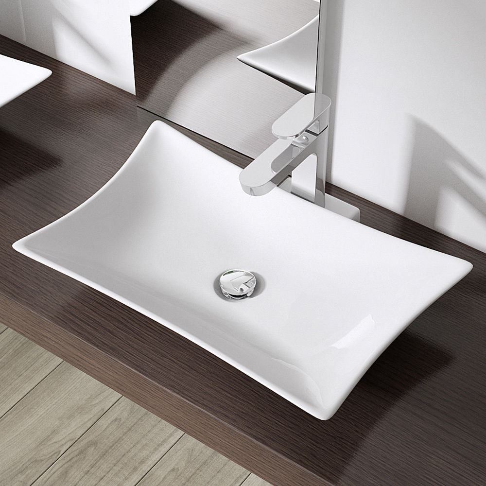 Durovin bathroom ceramic countertop basin sink wash bowl design w565 d445 h110mm ebay - Designer bathroom sinks basins ...