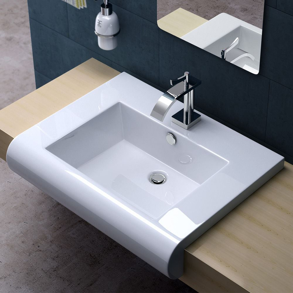 durovin bathroom basin sink wall mounted hung counter top ceramic cloakroom new ebay. Black Bedroom Furniture Sets. Home Design Ideas
