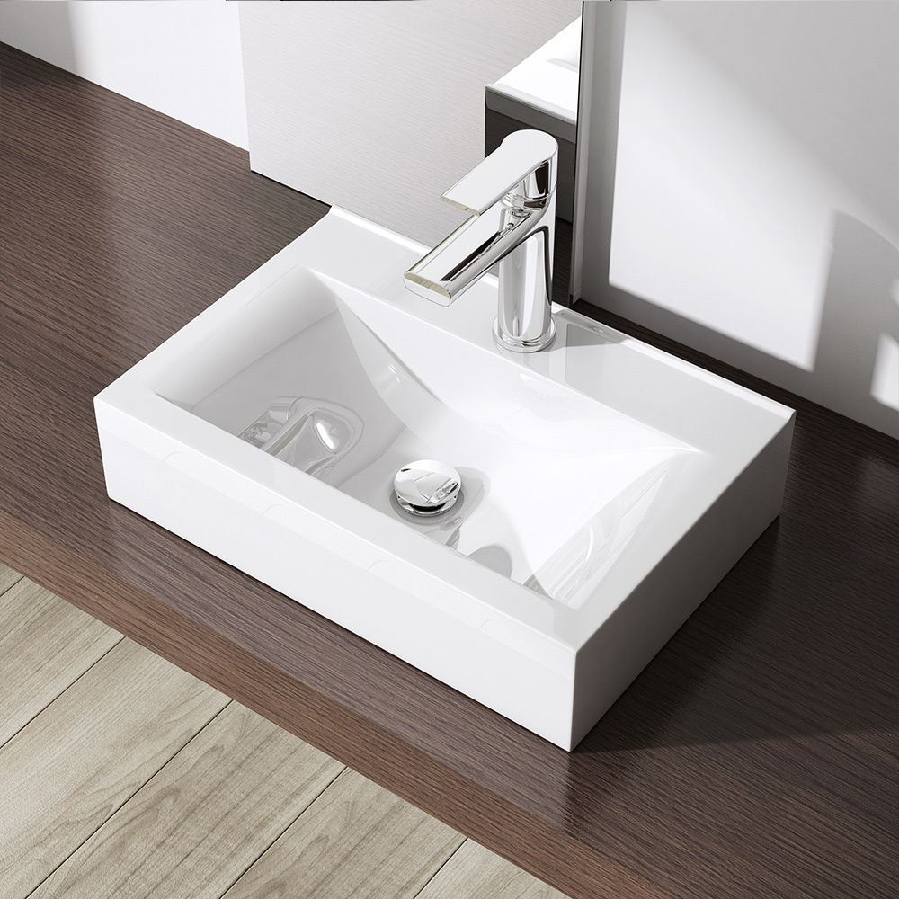 ... Basin Sink Wall Mounted Hung Counter Top Ceramic Cloakroom New eBay