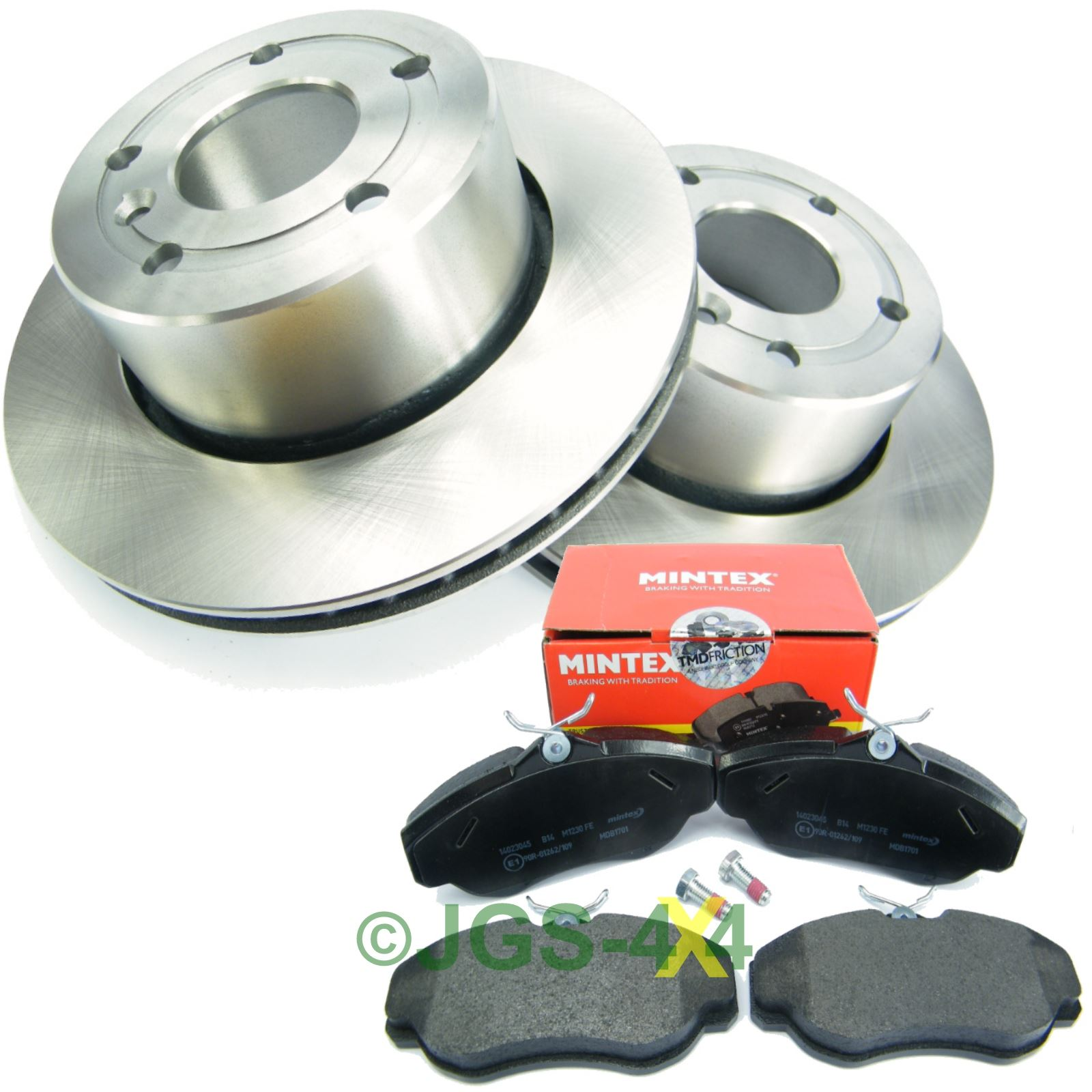 Land Rover Discovery 2 Range Rover P38 Rear Lhs N S: Land Rover Discovery 2 Front Brake Disc+ MINTEX Brake Pad