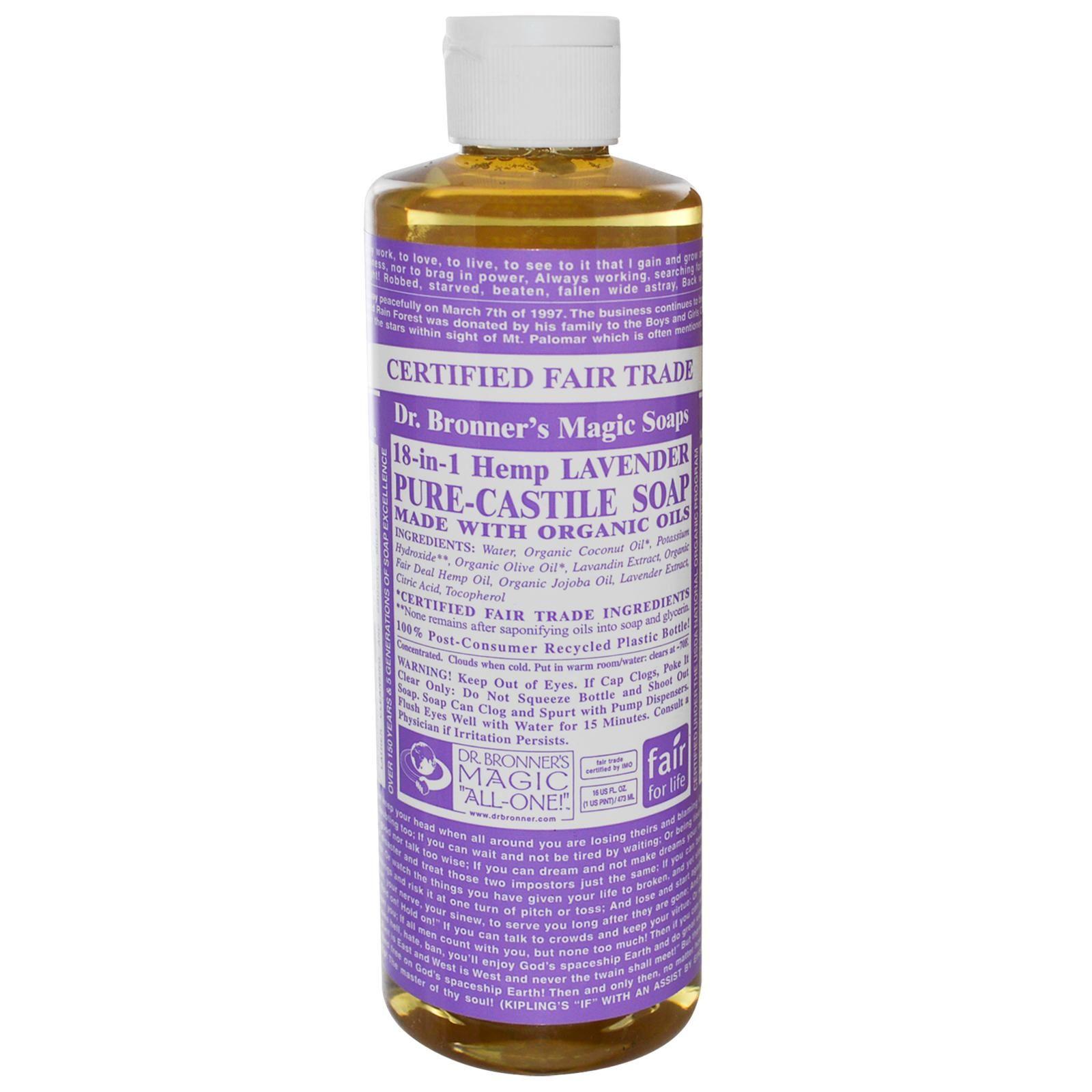 Dr Bronner Lavender Castile Liquid Soap 472 Ml Ebay
