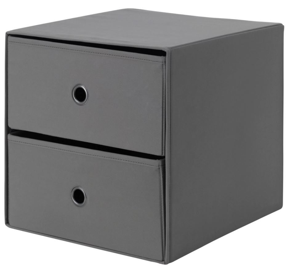 ikea flarra mini chest with 2 drawers small storage for kallax ebay. Black Bedroom Furniture Sets. Home Design Ideas
