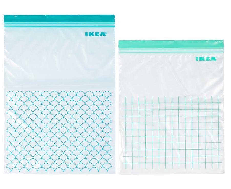 ikea istad plastic press resealable food sandwich freezer storage bags ebay. Black Bedroom Furniture Sets. Home Design Ideas