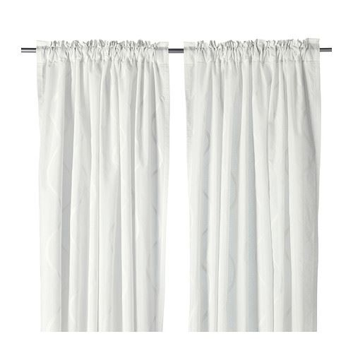 Curtains Ideas 300 cm length curtains : IKEA HILLMARI Curtains White 145cm x 300cm pair
