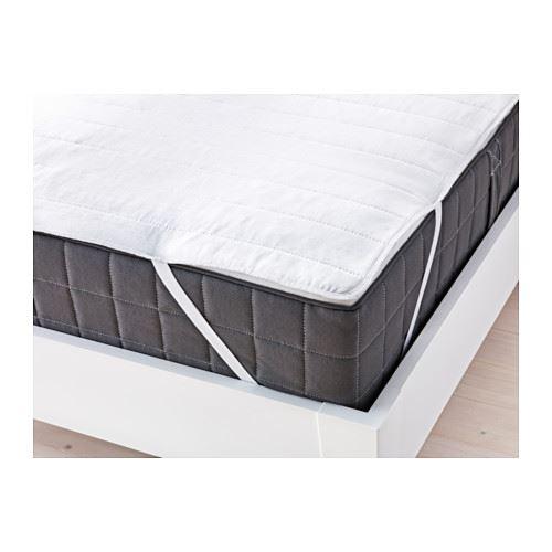 ikea angsvide cotton blend mattress cover protector topper ebay. Black Bedroom Furniture Sets. Home Design Ideas