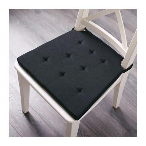 ikea admete chair pad black or natural ebay. Black Bedroom Furniture Sets. Home Design Ideas
