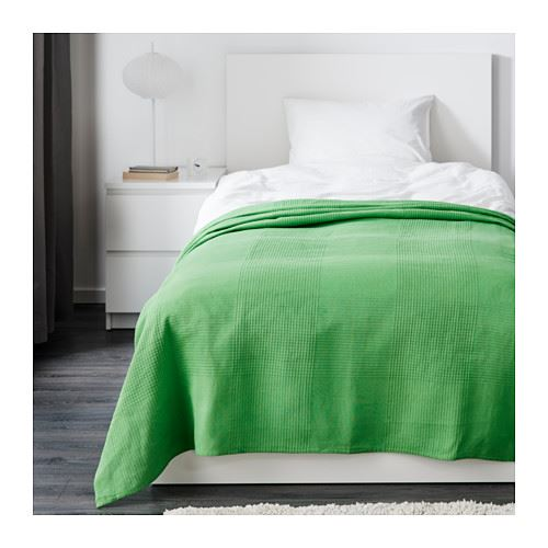 ikea indira bedspread throw 100 cotton ebay. Black Bedroom Furniture Sets. Home Design Ideas